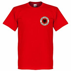 Albania Badge Tee - Red