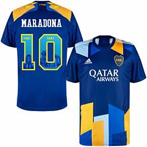 20-21 Boca Juniors 3rd Shirt + Maradona 10 (Gallery Style Printing)