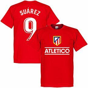 Atletico Suarez 9 Team T-shirt - Red