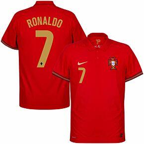 20-21 Portugal Vapor Match Home Shirt + Ronaldo 7 (Official Printing)