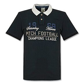 Pitch Champions League Polo - Black