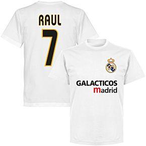 Galácticos Madrid Raul 7 Team T-shirt - White