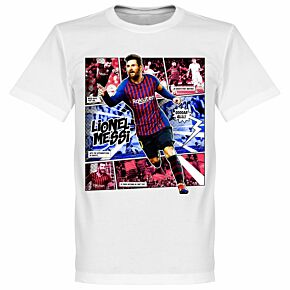 Messi Comic T-Shirt - White