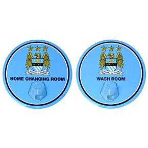 Manchester City Kit Hanger ( 9.5cm Diameter - 2 pack)