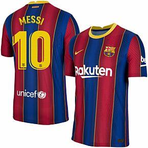 20-21 Barcelona Vapor Match Home Shirt + Messi 10 (Match Pro Printing)