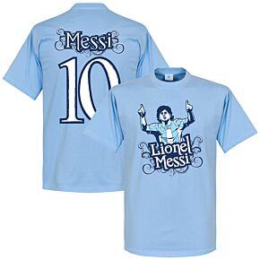 Lionel Messi 10 Tee - Sky