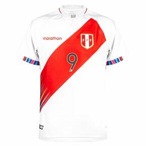 2021 Peru Copa America Home Shirt + Lapaula 9 (Fan Style)