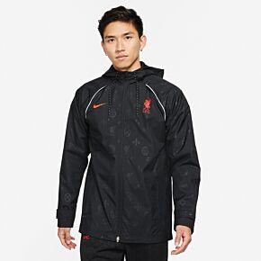 21-22 Liverpool GX AWF Jacket - Black/Crimson