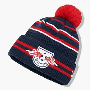 New Era RB Leipzig Pom Beanie Hat - Red/Navy