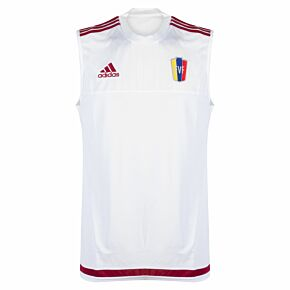 15-16 Venezuela Sleeveless Training Shirt - White