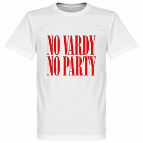 No Vardy No Party Tee - White/Red