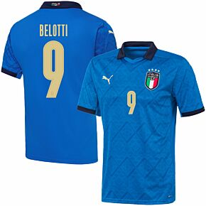 20-21 Italy Home Shirt + Belotti 9 (Official Printing)