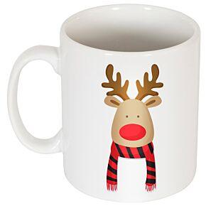 Reindeer Supporters Mug - Red/Black