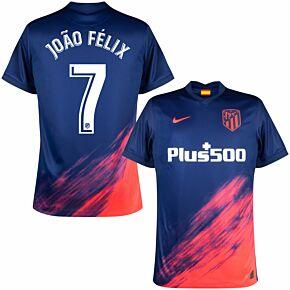 21-22 Atletico Madrid Away Shirt + João Félix 7 (Official Printing)