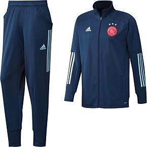 20-21 Ajax Training Tracksuit - Blue