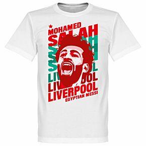 Salah Liverpool Portrait Tee - White