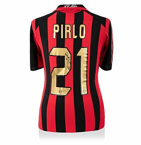 Andrea Pirlo Back Signed ACMilan 05-06 Home Shirt