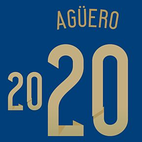 Agüero 20 - Argentina Away Official Name & Number 2014 / 2015