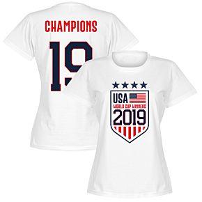 USA Womens World Cup Winners T-Shirt - White