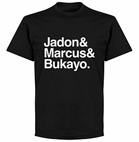 Jadon, Marcus & Bukayo T-shirt - Black