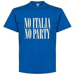 No Italia No Party Tee - Royal