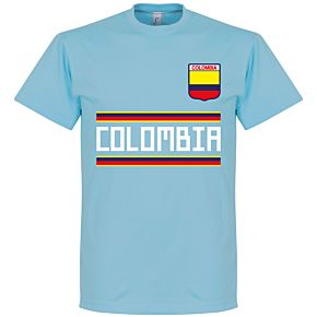 Colombia Team Tee - Ice Blue
