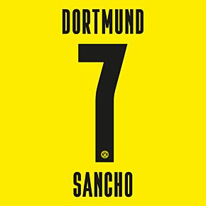 Sancho 7 (Official Printing) - 20-21 Borussia Dortmund Home KIDS