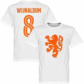 Holland Wijnaldum Lion Tee - White