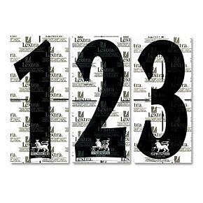 97-07 Premier League Replica Numbers Black