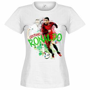 Ronaldo Motion Womens Tee - White