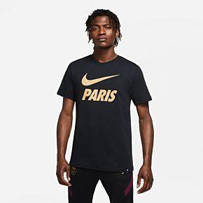 20-21 PSG Ground T-Shirt - Black