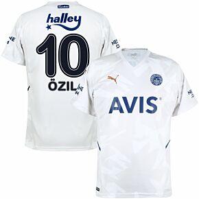 21-22 Fenerbache Away Shirt + Özil 10 (Fan Style Printing)