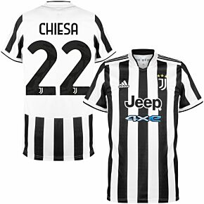 21-22 Juventus Home Shirt + Chiesa 22 (Official Printing)