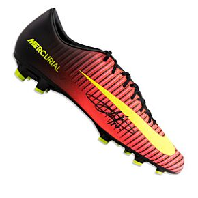 Eden Hazard Signed Nike Mercurial Cleat - Orange/Black
