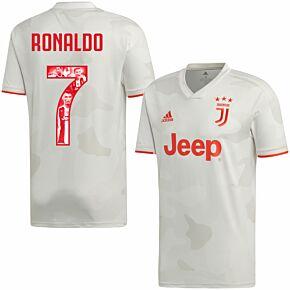 19-20 Juventus Away Shirt + Ronaldo 7 (Gallery Style)