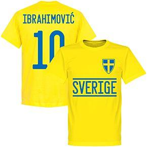 Sweden Ibrahimovic 10 2020 Team T-Shirt - Yellow