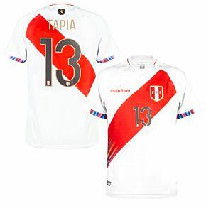 2021 Peru Copa America Home Shirt + Tapia 13 (Fan Style)