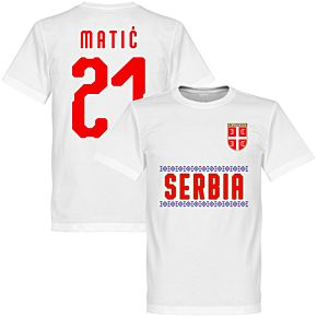 Serbia Matic 21 Team Tee - White