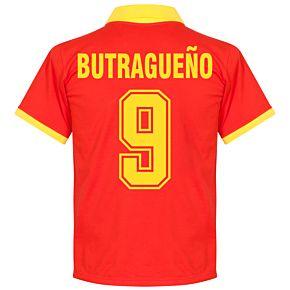 1970's Spain Home Retro Shirt + Butragueño 9 (Fan Style)
