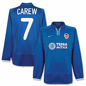 00-01 Valencia 3rd L/S Jersey + Carew No. 7 - Players