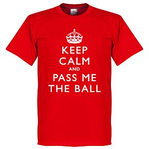 Keep Calm And Pass Me The Ball Tee - Red