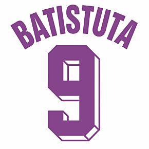 Batistuta 9 (Retro Fan Style Printing) 20-21 Fiorentina Away