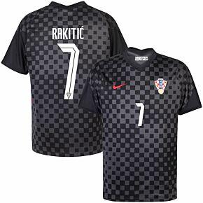 20-21 Croatia Away Shirt + Rakitić 7 (Official Printing)