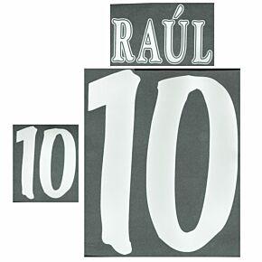 Raúl 7 - 98-99 Spain Home/Away Printing (Retro Flock)