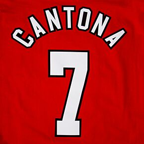Cantona 7 - 96-97 Home Retroo Flock Printing (2-layer flock)
