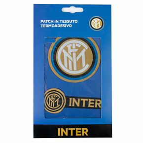 Inter Milan Iron on Patch Twin Set (7 x 7cm/8 x 2cm Approx)