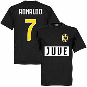 Juve Ronaldo 7 Team Tee - Black