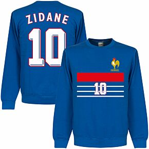 France 1998 Zidane 10 Retro Sweatshirt - Royal