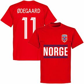 Norway Team Ødegaard Tee - Red