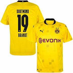 20-21 Borussia Dortmund Cup Shirt + Brandt 19 (Official Printing)